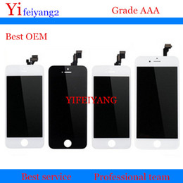 Wholesale Iphone Touch Screen Oem - 1pcs Best OEM LCD Display With Touch Screen Digitizer Assembly For iPhone 5 5C 5S 6 plus LCD Display
