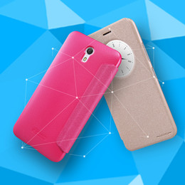 Wholesale Lenovo Nillkin - Original Nillkin Sparkle Series Ultra Thin Flip Cover PU Leather Case For Lenovo ZUK Z1 With Retail Package