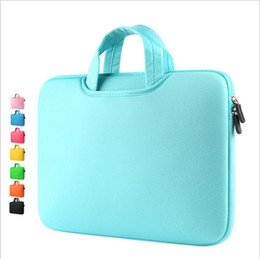 Wholesale 13 Macbook Pro Bag - Wholesale 1 pic Portable Laptop PC Bags handbags for Macbook pro air 11 12 13 14 15.6 inch Sponge Made backpacks