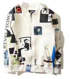 Wholesale Uniform Cardigan Sweater - The new bigbangGD same jacket coat hip hop male and female baseball uniform zipper cardigan space cotton sweater