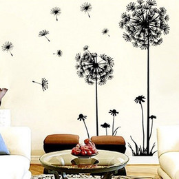 backdrop pvc Promo Codes - Wholesale- Dandelion Flower Tree 2015 NEW Living Room Bedroom Backdrop Home Decor Tree wall Stickers Home Decor Pegatinas De Pared Paredes