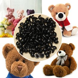 Wholesale Plastic Safety Eyes 12mm - 100Pcs Bag DIY Doll Toy Eyes 12mm Black Plastic Safety Eyes Puppets Doll Crafts Doll Eyes Handmade Accessories with Washers