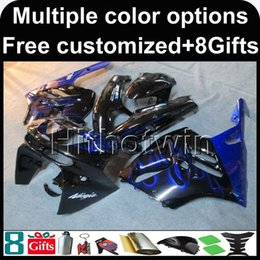 Wholesale 95 Zx9r Fairings - 23colors+8Gifts blue kit motorcycle cowl for Kawasaki ZX9R 1994-1997 ZX9R 94 95 96 97 ABS Plastic Fairing