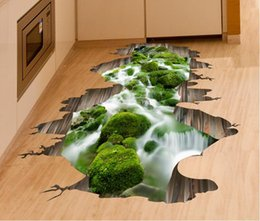 Wholesale Nature Flooring - 8 Designs Faithtur 3D Self-adhesive Removable Mural Arts Decals Wall Stickers for Living Nursery Room Decor Wall Ceiling Floor Sticker