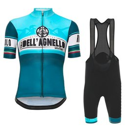 Wholesale Road Cycling Set Clothing - Tour d'Italia Blue 2017 Cycling Jerseys Set Short Sleeves Summer Style Road Racing Clothing Quick Dry Bike Wear Size XS-4XL Bicycle Bodysuit