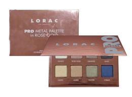 Wholesale Palette Metal - EPACK New Arrival 8 color eyeshadow palette makeup cosmetics LORAC PRO METAL rose gold eye shadow plate