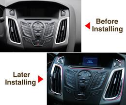 Anel de acabamento cromado on-line-Estilo do carro, acessórios da guarnição ABS Chrome guarnição tomada de decoração interior anel 5 pçs / lote para a Ford focus 3 MK 3 2012 2013