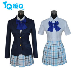 Wholesale Japanese Female School Uniforms - New Arrival Anime A Silent Voice Cosplay Costume Shouko Nishimiya Shouya Ishida Cosplay Costumes Japanese School Uniform