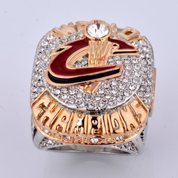 Wholesale Championship Basketball - Top Quality Cleveland James Championship Rings Collections For Fans 2016 Basketball Ring For Men Fashion Luxury Jewelry Wholesale