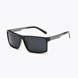 Wholesale Polaroid Fashion - Mens Square Classic Polarized Sunglasses Men Women Fashion Brand Designer Vintage Square Driving Sun Glasses For Male UV400
