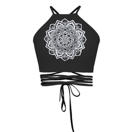 Wholesale Paper Cut Outs - DHL free ship Fashion Paper-cut printing tanks tops camis vest women strapless bandage Top fashion sexy back beach summer strap vest female