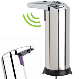 Wholesale Activate Steels - VILEAD Automatic Touchless IR Sensor Liquid Soap Dispenser Touchless Motion Activated Stainless Steel Body Soap Dispenser