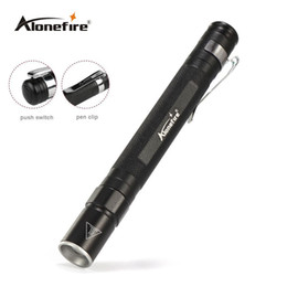 Wholesale Used Torches - AloneFire MN23 Portable Mini Penlight CREE Q5 LED Flashlight Torch Pocket Light Waterproof Mini Torch Lamp use 2*AAA Battery