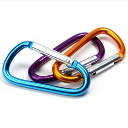 metal hook key chain 2018 - Large Carabiner Keyrings Key Chain Outdoor Sports Camp Snap Clip Hook Keychains Hiking Aluminum Metal Stainless Steel Hiking Camping Clip