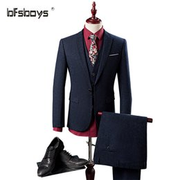 Wholesale Marriage Suits - Wholesale- 2016Top Selling New Special business formal dresses the groom suit marriage cultivate one's morality suit outfit 971