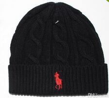 Wholesale Men Polo Top - Hot winter Fashion men beanie women knitted hat casual sports cap keep warm ski gorro top quality classical polo skull caps