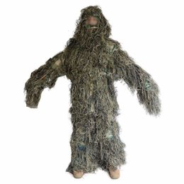 Wholesale Woodland Hunting Clothing - Woodland Ghillie Suit Military Camouflage Ghillie Suit Hunting Clothing Camouflage Shade Clothes for Outdoor Hunting