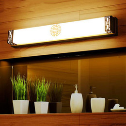 Wholesale 110V V L48cm cm cm Chinese Style Vintage LED Bronze Mirror Light Picture Wall Front Lighting Bathroom Lamp lighting
