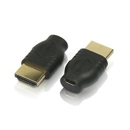 Wholesale Micro Hdmi Cable Free - Wholesale 300Pcs lot New HDMI Male TO Micro HDMI Female D Type to HDMI 1.4 A type Male Cable Adapter converter free shipping