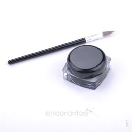 Al por mayor-Mujeres Maquillaje Gel Eyeliner a prueba de agua Negro Eyeliner Gel Maquillaje Cosmético + Pincel Conjunto de maquillaje MU0014 desde fabricantes