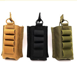 Wholesale tactical vest accessories - Tactical Molle Vest Accessory Magazine Pouch with 12 Gauge Airsoft Shotgun Shells Holder Hunting Combat Assault Bags