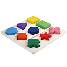 Wholesale Geometry Games - Wholesale- Fun Wooden 3D Match Geometry Puzzle Montessori Early Learning Toys for Kids Educational Toy for Baby Kids Board Game