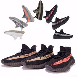 Wholesale mens shoes SPLY Boost V2 New Kanye West Boost V2 SPLY Running Shoes for mens Grey Orange Stripes Zebra Bred Color