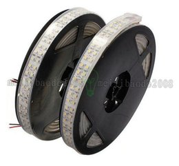 Wholesale Double White Led Strip - 2017 NEW 240leds m 5M Double Row Waterproof 3528 SMD Cool White Led Strip 1200 leds Lamp Home Decoration Light MYY