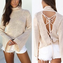Wholesale Womens Xs Coats Beige - Wholesale- Fashion Womens Long Sleeve Loose Cardigan Knitted Sweater Jumper Outwear Coat Tops