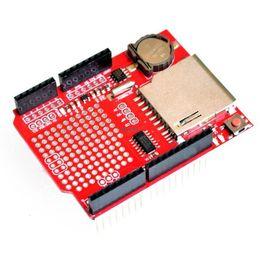 Wholesale Card Arduino Uno - Free Shipping 1 PCS New Data Logger Module Logging Recorder Shield V1.0 for Arduino UNO SD Card