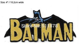Wholesale Batman Costume Cape - Batman 1970's Head Cape and Name Comic Book Logo Movie TV Series Costume Embroidered Emblem iron on sew on patch christmas gift