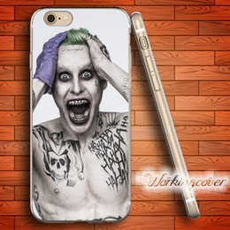 Wholesale Apple Iphone 4s For Sale - Coque Suicide Squad Joker Hot Sale Soft Clear TPU Case for iPhone 6 6S 7 Plus 5S SE 5 5C 4S 4 Case Silicone Cover.