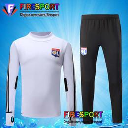 Wholesale Suits Sport Men - Thai Quality 2016 2017 LYON Training Suits Lyonnais chandal Soccer TrackSuit Football 16 17 18 survetement Sport Wear marseille Jerseys
