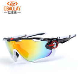 Wholesale Mtb Group - Wholesale- Obaolay Bicycle Glasses 3 Group Lens Polarized For Outdoor Sport Cycling Hiking MTB Bike Sunglasses Ciclismo Cycling Glasses