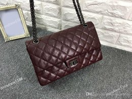 Wholesale Double Slots - Original quality vintage cf 28CM calfskin leather reissue double flaps bag elephant pattern genuine leather women shoulder bag gun hardware