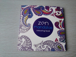 Wholesale Mandala Coloring - English Edition 128 Pages Mandalas Coloring Book For Adults Children Relieve Stress Kill Time Secret Garden art Coloring books