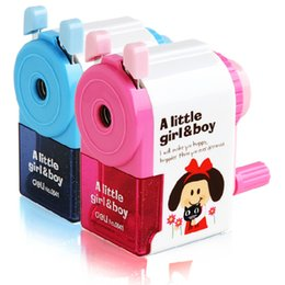 Wholesale Old Navy Free Shipping - Wholesale- Cranked Pencil Sharpener Deli 0641 Pencil Sharpener Machine Korean Cute Student Stationery Free Shipping