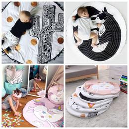 Wholesale Games Hands - INS Baby Creeping Mats Fox Unicorn Play Game Mats Decorative Crawling Blanket Kids Room Padded Floor Carpet 12pcs OOA3607