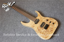 Wholesale mahogany finish - Wholesale- Hot Selling Deadwood Finish 6 Strings Blackmachine Guitar Black Hardware One Piece Neck China Guitars Factory