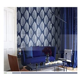 Wholesale Black White 3d Wallpaper - Modern 3D Stereo Black and White Leaves Nordic Wallpaper Sky Blue Black White Bedside Living Room Sofa Club TV Background Wall paper