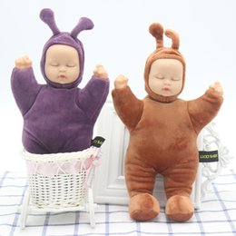 Wholesale Doll Baby Education Toys - rubber baby toys simulation sleep to appease children birthday gift baby plush toys home morning education