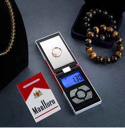 Wholesale Accurate Scales - 500g x 0.01g Mini Pocket Jewelry Scale Cigarette Case Accurate Scale Kitchen Electronic Scales 0.01g Smoke Box Weight Balance
