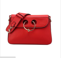 Wholesale Genuine Red Leather Handbags - 2017 new arrival high quality red genuine leather women shoulderbag handbags free shipping retail and whosale