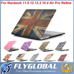 "Wholesale Rubberized Protector Case - Pattern Design Matte Hard Rubberized Full Protector Laptop Flip Cover For Macbook Pro 11.6"" 12"" 13.3"" 15.4"" with Colorful Shell Cover Case"