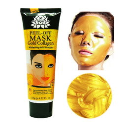 Wholesale Firming Masks - 120ml 24K golden mask Anti wrinkle anti aging facial mask face care whitening face masks skin care face lifting firming