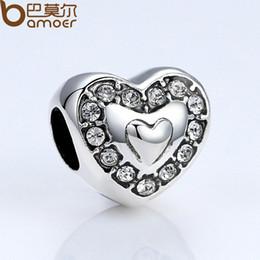 Wholesale Brand New Pandora Bracelet - Pandora Style Brand New Heart Crystals Charms For Women Bracelets Fashion Jewelry DIY Accessories PA5300