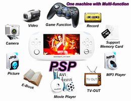 Wholesale Games Mp5 Touch - 8GB Game Console Touch Screen 4.3 Inch MP4 MP5 Players Handheld PSP Game Player Free Games FM 1.3 MP Camera Flashlight