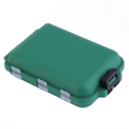 Wholesale Compartment Plastic Storage Boxes - Wholesale- Delicate Army Green Plastic Fishing Tackle Boxes Hook Compartments Storage Case Outdoor Fishing Swivels Lure Bait Storing Tool