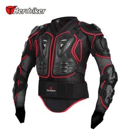 Wholesale Motorcycle Riding Armor Jacket - HEROBIKER Motorcycle Riding Armor Protective Gear Extreme Sport Anticollision Motocross Off-Road Racing Body Protector Jacket 2colors