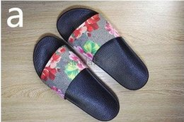 Wholesale Cotton Fabric Prints - Soft Brand Moccasins Mens Slide Sandals Tiger Printing Womens Leather Flowers Slippers Indoor and Outdoor With Fast Delivery